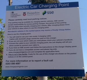 Petersfield chargepoint notice