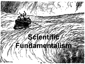 Scientific Fundamentalism