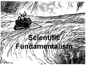 Scientific Fundamentalism