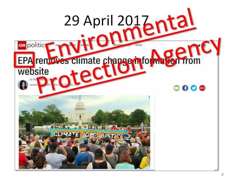 EPA gagged